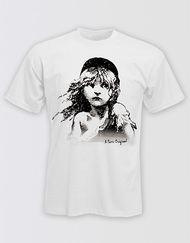 Les Miserables Unisex White Cosette T-Shirt - Promo