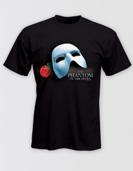 The Phantom of the Opera Broadway Mask and Rose T-Shirt