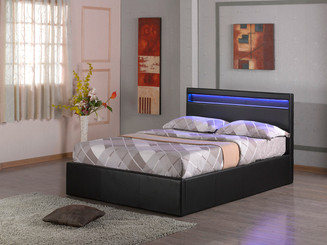 TOKYO LED Ottoman Storage Bed, available in Double or King