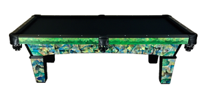 8 foot Olhausen Sheraton Pool Table, Painted by local artist