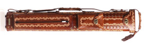 Instroke Saddle 3x7 D01 Brown Hand Painted