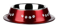 Classic Pet Products Posh Paws Non Tip Dish, 500 ml, Red