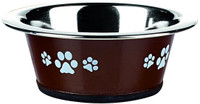 Classic Pet Products Posh Paws Cat Dish, 240 ml, Chocolate