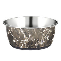 Classic Pet Products Luxury Marble Effect Stainless Steel Dish 1900ml