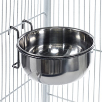 Metal Feeding Dish Hook Bowl Coop Cup Large 900ml