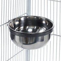 Metal Feeding Dish Bolt Bowl Coop Cup Large 900ml
