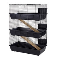 Rabbit 100 Triple Cage Indoor for Rabbits & Guinea Pigs