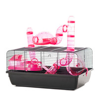 The Landmark Cage with Accessories 580x380x290 - Pink