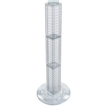 "Four-sided 4""W x 36""H Pegboard Tower with Revolving 14.5"" Base"