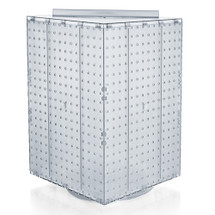 """Four-Sided Revolving 14""""W x 20""""H Pegboard Counter Display"""