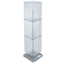 "Four-Sided Pegboard Tower Floor Display on Revolving Base. Panel Size: 14""W x 60""H"