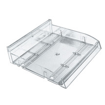 "Modular Adjustable Divider Bin Tray (Clear) 12"" Wide"