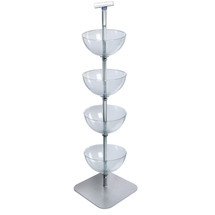 """Four-Tiered 14"""" Bowl Floor Display"""