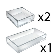 Deluxe Tray 3 Piece Set - Square Trays and Large Tray
