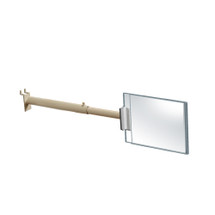 "Two-Sided Aisle Acrylic Sign Holder with Telescopic Gripper 6""W x 4""H"