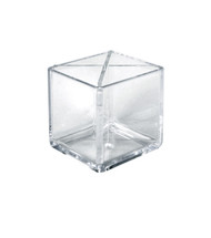 "4"" Cube Pencil Holder with Divider 4""W x 4""D x 4""H"