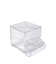"4"" Cube Pencil Holder with Divider & Business Card Pocket"