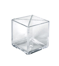 "Cube Pencil Holder with Divider 5""W x 5""D x 5""H"
