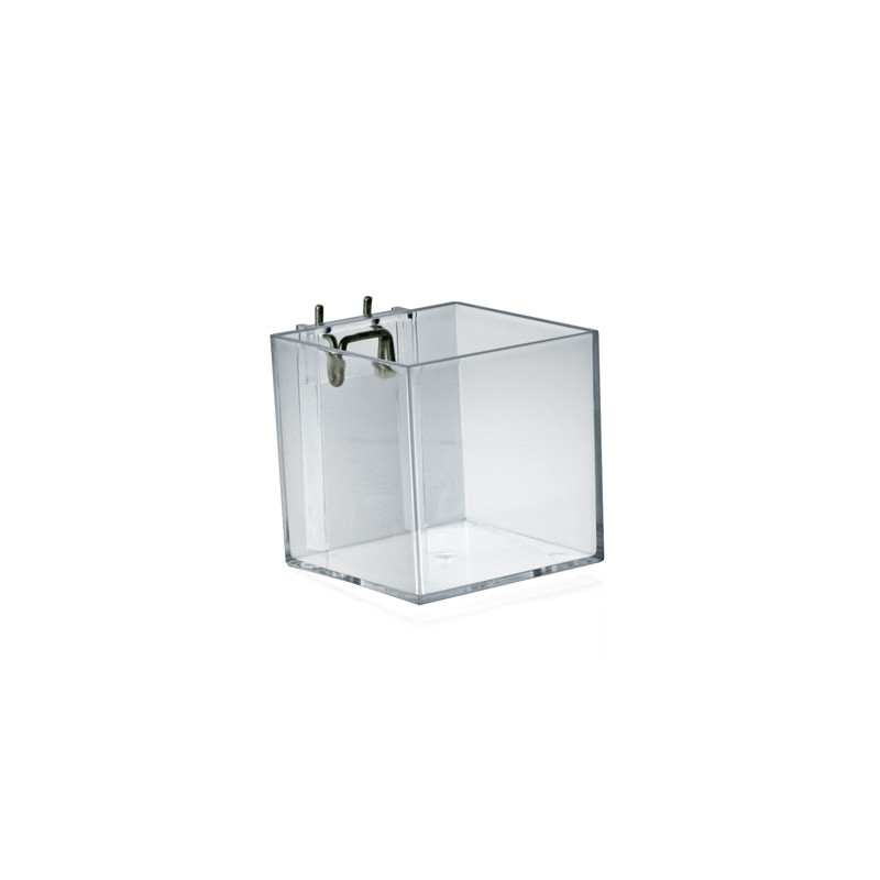 4 cube bin for pegboard or slatwall azar displays