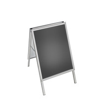 "A-Board Sign in Silver. Snap Frame Size: 22""W x 28""H"