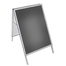 "A-Board Sign in Silver. Snap Frame Size: 30""W x 40""H"