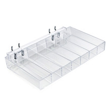 Seven Compartment Tray for Pegboard or Slatwall