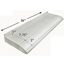 "Adjustable Cosmetic Tray (milky white) 36"" Wide"
