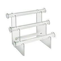 """Three-Tier Bracelet Counter Display. Overall Measurements: 9.25""""H x 11.75""""W"""