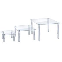 3-Piece Acrylic Square Riser Set