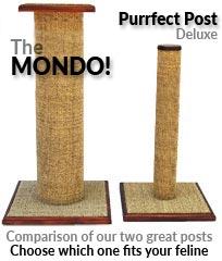 Post and Mondo size comparison