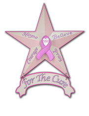 "10375 - ""Breast Cancer Awareness"" - 12"" Star"