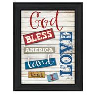 "MA1091-405 BLK ""God Bless America"""