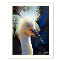 """Backlit Egret"" by artist Tim Dardis"