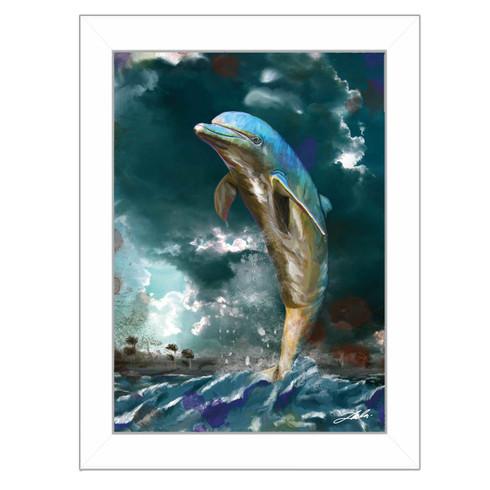 """Jumping Dolphin"" by artist Tim Dardis"