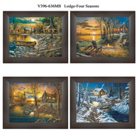 "V396-636MB  ""Lodge-Four Seasons"""