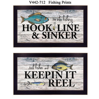 "V442-712 ""Fishing Prints"""