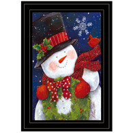 "ART1031A-704G ""Cheery Snowman with Wreath"" with an easel"