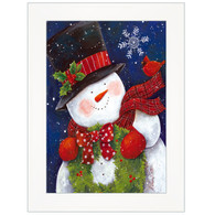 "ART1031A-226  ""Cheery Snowman with Wreath"" with an easel"