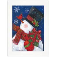 "ART1032A-226 ""Cheery Snowman with Present"" with an easel"