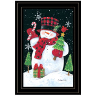 "ART1046A-704G ""Plaid Top Hat Snowman"" with an easel"