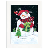 "ART1047A-226  ""Plaid Stocking Hat Snowman"" with an easel"