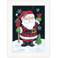 "ART1048A-226 ""Plaid Santa"" with an easel"