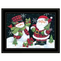 """ART1050-704G  """"Plaid Snowman and Santa"""""""
