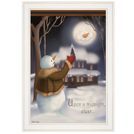 """CAR336-226G """"Moonlight Snowman"""""""