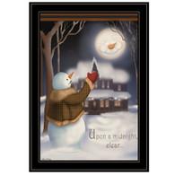 """CAR336-704G """"Moonlight Snowman"""""""