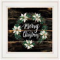 "CIN769-226G ""Merry Christmas Poinsettia Wreath"""