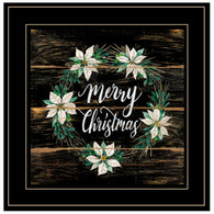 "CIN769-704G ""Merry Christmas Poinsettia Wreath"""