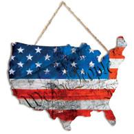 """TDAR135US - """"WTP American Flag"""""""