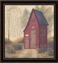 "BR298-712 ""Folk Art Outhouse II"""