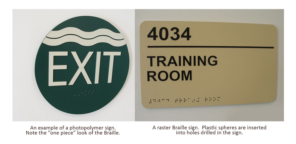 Raster vs Photopolymer ADA Signs